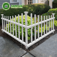 4' x 8' modern cape cod vinyl picket fence