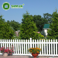 4' x 8' modern capped vinyl picket fence