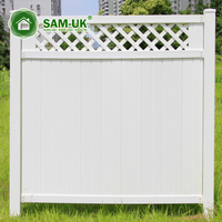 5x8 vinyl garden fence panels with lattice top