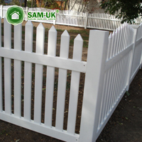 4' X 8' Modern Round Top Vinyl Picket Fence