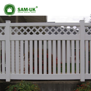 6 x 8 modern semi private vinyl fence lattice