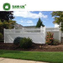 6' x 8' vinyl privacy fencing tongue and groove on deck