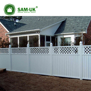6 x 8 semi private vinyl fencing lattice backyard