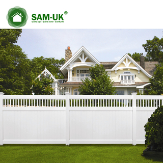 5' x 8' vinyl privacy fence tongue and groove garden zone