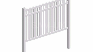 Cheap PVC Not Coated Used Semi Privacy Fence Panels White Garden Fence Picket Fence