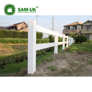 Rail Composite Farm Pvc Vinyl Panel Privacy Fence