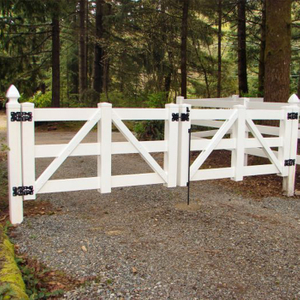 4 Rail Fence Metal Gate for Split Rail