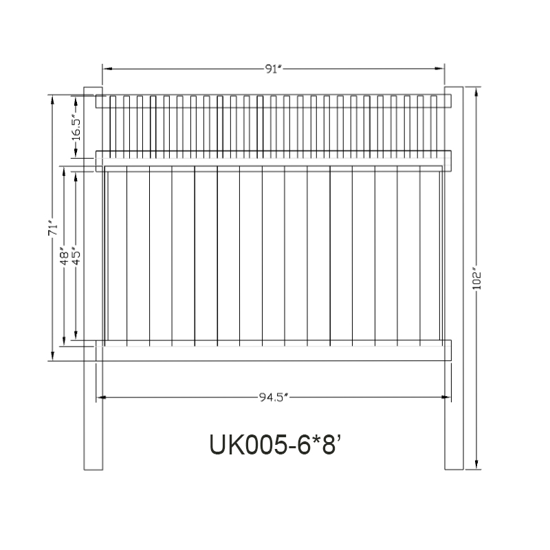 Cheap White Pvc Vinyl Full Privacy Fence