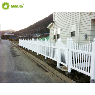 White Pvc Vinyl Picket Fence White Vinyl Privacy Fence Panels Plastic Garden Fences