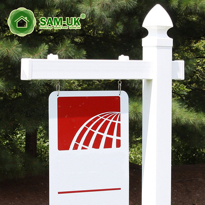 Removable House Square Vinyl Sign Post
