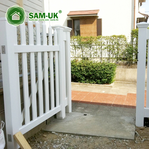Modern Vinyl Picket Lattice Fence Gate