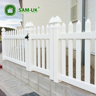 White Picket Fence Electric Gate Frame