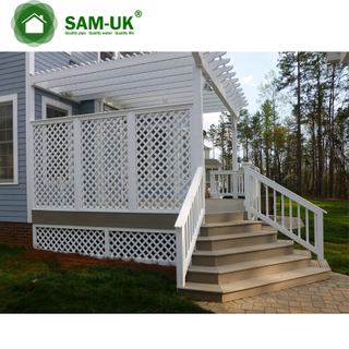 China Supplier Pvc Price Plastic Garden Lattice Fence Panels