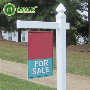 White Free Standing Vinyl Real Estate Sign Post