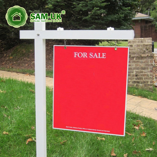 White Garden Vinyl Real Estate Sign Post