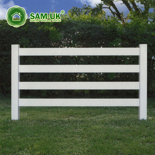 New Products Pvc Coated Temporary Equine 4 Ranch Rail Fence