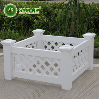 Vintage Custom White Vinyl Planter Box